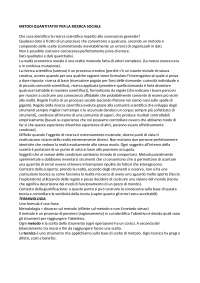 Metodi Quantitativi per la ricerca sociale
