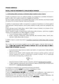 Finanza Aziendale (asset pricing finanziamento d'imprese)