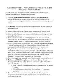 suggerimenti per esame di pedagogia interculturale