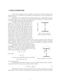 Teoremi e analisi sui dipoli elettrici e magnetici