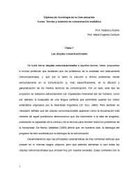 Síntesis Mc Luhan Diploma de Sociología de la Comunicación Curso: Teorías y modelos de comunicación mediática