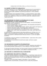 DOMANDE STORIA DELLA LINGUA ITALIANA (+ risposte)