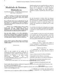 modelado matemático para sistemas hidraulco