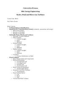 Riassunti Hydro Wind and Micro-Gas Turbine