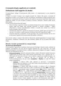 Appunti per l'esame di cronopsicologia del prof. Ficca
