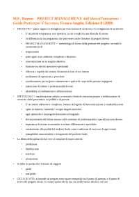 M.E. Haynes - PROJECT MANAGEMENT: dall'idea all'attuazione – Guida Pratica per il Successo, Franco Angelo, Edizione 8 (2009)