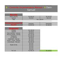 Tabela Orçamental Familiar
