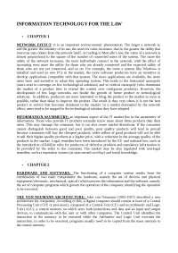 Riassunti interamente sostitutivi libro Information technology for law di Giuseppe Contissa, Unibo