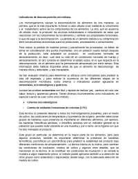 INDICADORES DE DESCOMPOSICION MICROBIANA