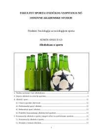 Alkoholizam u sportu