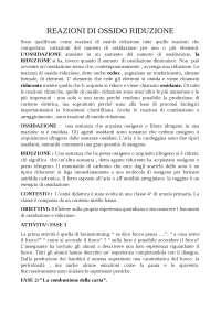 tema chimica per l'esame di scienze della formazione primaria