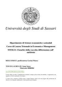 tesi triennale - economia e management