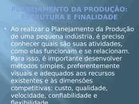 Planejamento Estrategico da Produção