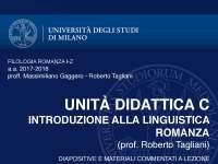 filologia romanza linguistica romanza