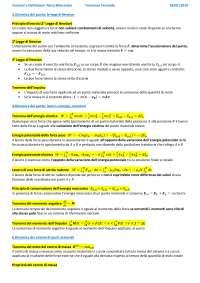 Teoremi e definizioni Fisica Generale I (meccanica)