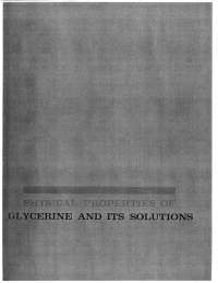 physical properties of glycerine