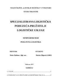 Pruzatelji logisticke usluge