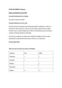 Solución preguntas examen Sociología general. Margarita Campoy.