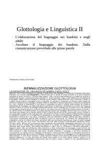 Appunti glottologia della professoressa Del Puente