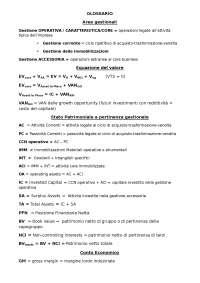 Glossario Analisi di Bilancio