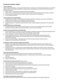 Zarządzanie produkcją i usługami UEK Dr Łukasik