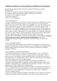 Appunti diritto costituzionale comparato ed europeo