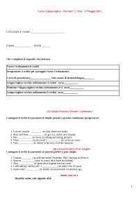 Prova d'esame Inglese e correzione