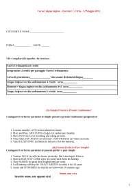 Correzione prova d'esame inglese