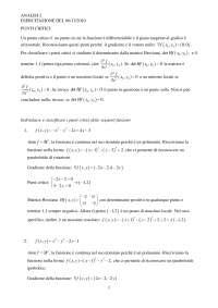 Esercitazione analisi 2 punti critici