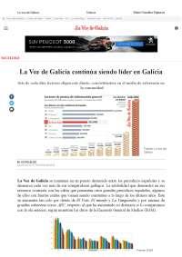 Prensa en Galicia, la voz de Galicia