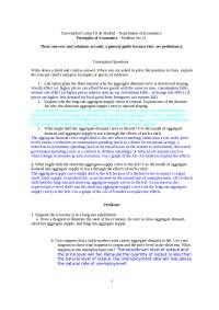 Principio de Economía Problem Set 12 with Solution Eng
