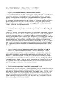 Domande e risposte di psicologia di comunità