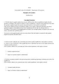 Principio de Economía Problem Set 5 with Solution Eng