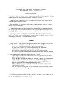 Principio de Economía Problem Set 13 without Solution Eng