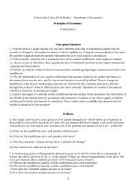 Principio de Economía Problem Set 5 withput Solution Eng