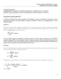 Esercitazione 4 - soluzione (cambi, forward, futures)