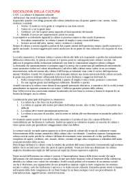 RIASSUNTO. 1.W. GRISWOLD, Sociologia della cultura, il Mulino, Bologna, 2003 (Capitoli I, II, III