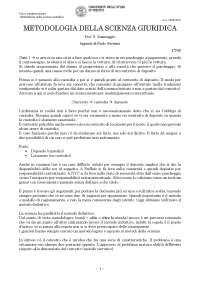 METODOLOGIA DELLA SCIENZA GIURIDICA Prof. P. Sommaggio Appunti di Paolo Geremia