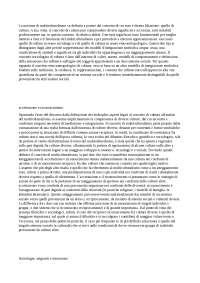 MULTICULTURALISMO Visione sociologica