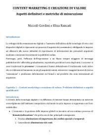 Content Marketing e Creazione di Valore - Niccolò Gordini, Elisa Rancati