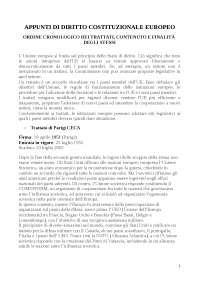 Diritto Costituzionale Europeo