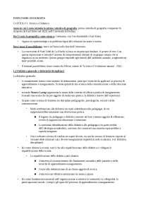 """RIASSUNTO DEL LIBRO """"INSEGNARE GEOGRAFIA"""""""