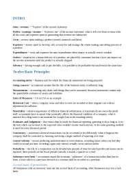 MBA - Riassunto libro Financial Statements (Capitoli Culasso & Miglietta)