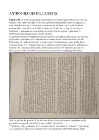 riassunto completo del libro Antropologia della festa