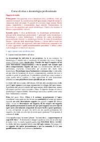 Corso di etica e deontologia professionale