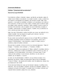 COMENTARIO DE TEXTO OCKHAM