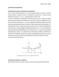 Coeficientes aerodinamicos
