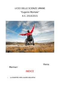 Tesi sulla disabilità