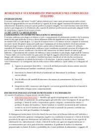Resilienza e vulnerabilità psicologica nel corso dello sviluppo,  Inguglia, C., Lo Coco, A.