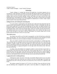 Culture Transfer Techniques – Aseptic Transfer Techniques